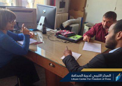 رئيس المركز الليبي لحرية الصحافة يلتقي نقيب الصحفيين الفرنسيين في باريس