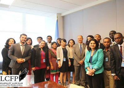 المركز الليبي يشارك في أعمال ندوة دولية حول حرية الصحافة بالأمم المتحدة
